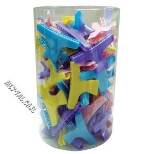 קליפס פלסטיק צבעוני גדול 48